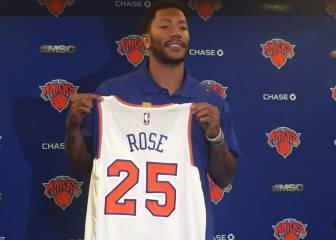 Rose ya está en NY: 'Moriría por jugar con Porzingis'