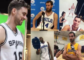 Los españoles de la NBA ya lucen sus nuevas camisetas