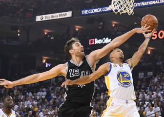 Ridículo de los Warriors de Curry y Durant ante los Spurs de Pau