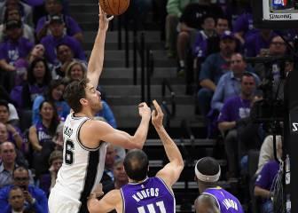 Los Spurs de Pau Gasol sudan tinta para batir a Cousins (37+16)