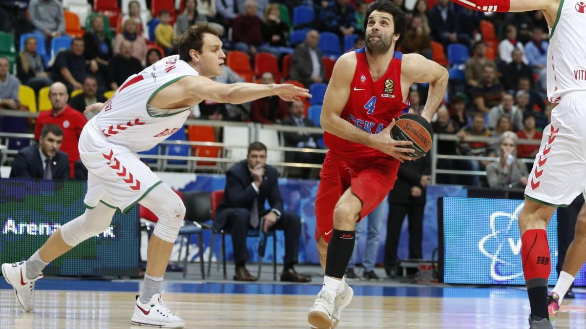 CSKA sigue en lo alto venciendo fácil a Baskonia