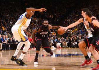 ¡El partido loco del año! Los Rockets rompen la racha de los Warriors tras dos prórrogas