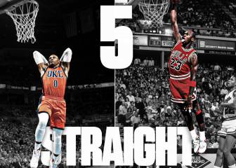 Westbrook iguala a Jordan: cinco triples-dobles seguidos