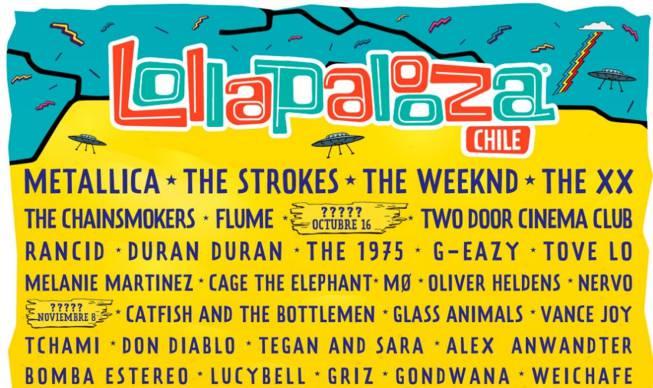 Cartel Lollapalooza 2017: Metallica y The Strokes encabezan festival ...