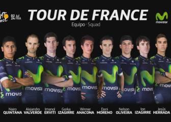 Quintana y Valverde lideran la lista de Movistar para el Tour