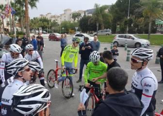 El Trek-Segafredo de Alberto Contador ya rueda en Alicante