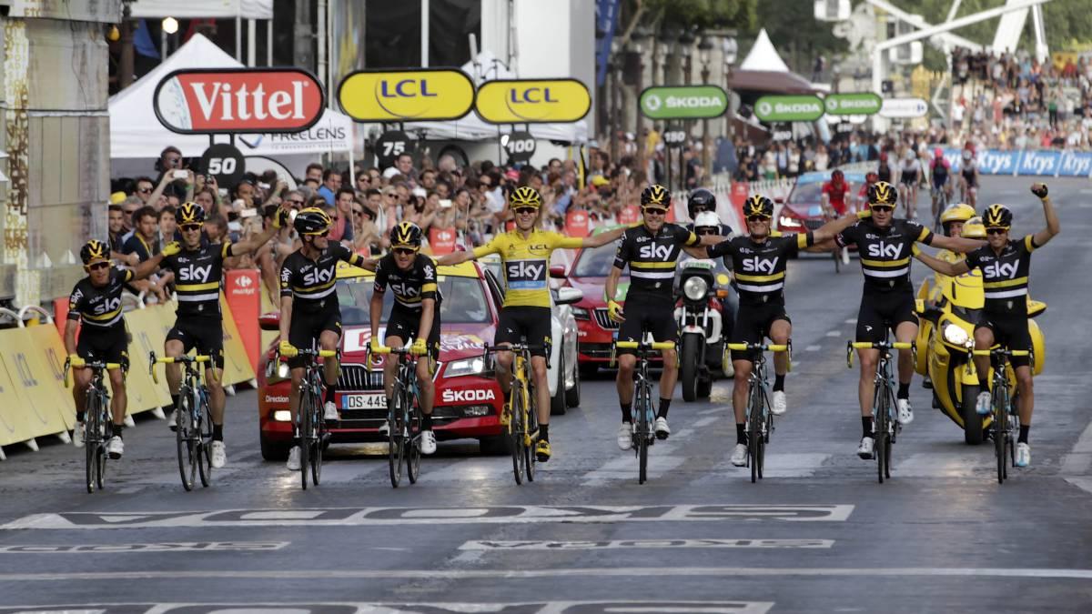 Tour de francia el potente equipo de froome y el sky para for Equipos de ciclismo