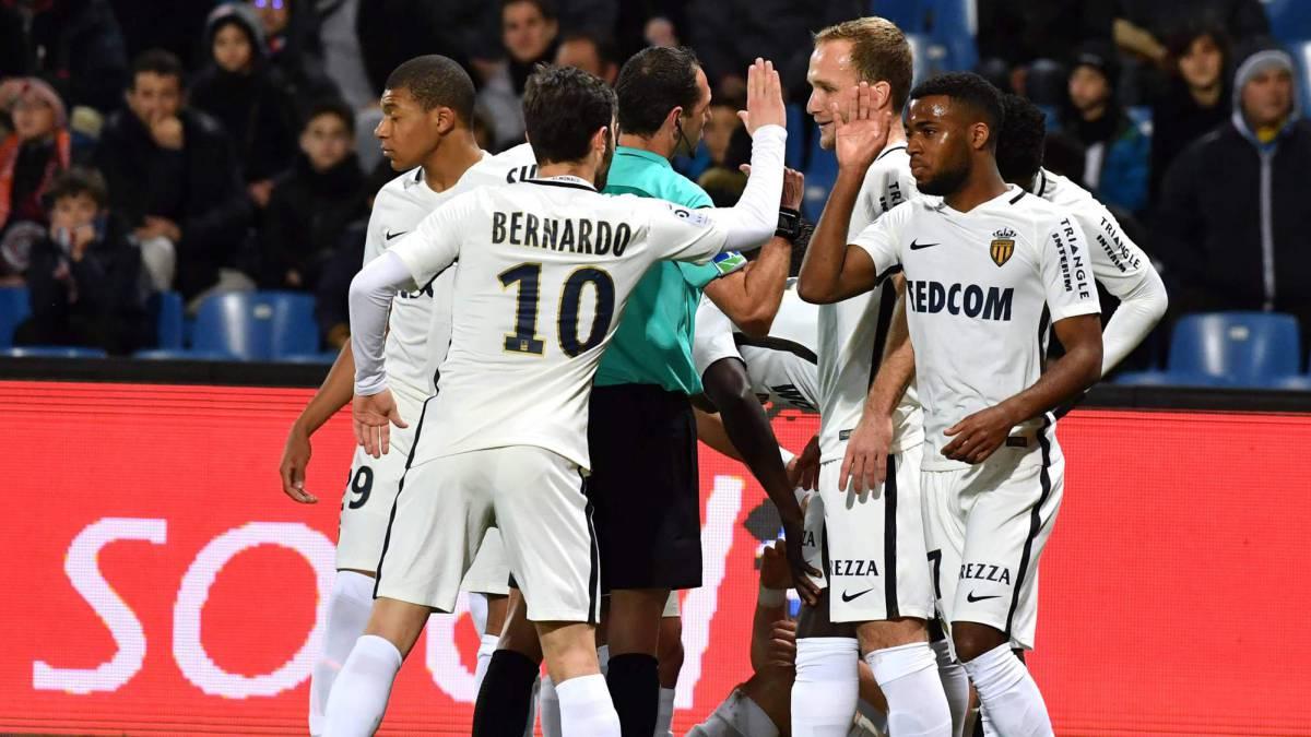 El Mónaco no falla en Montpellier (1-2) y sigue al frente de la Ligue 1