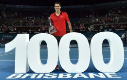 Roger Federer secures his 1000th career win
