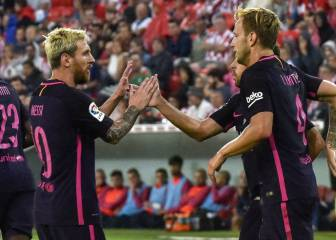Rakitic header hands Barça hard-fought win over Athletic