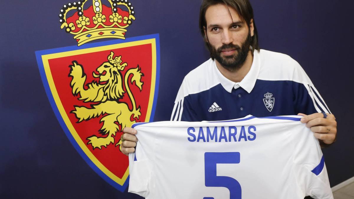 Georgios samaras unveiled as new real zaragoza no 5 as com