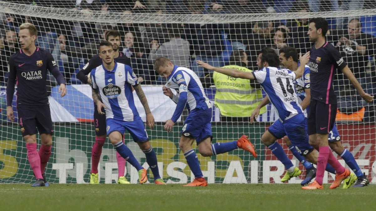 Resultado de imagen de Deportivo 2-1 Barça en imagenes