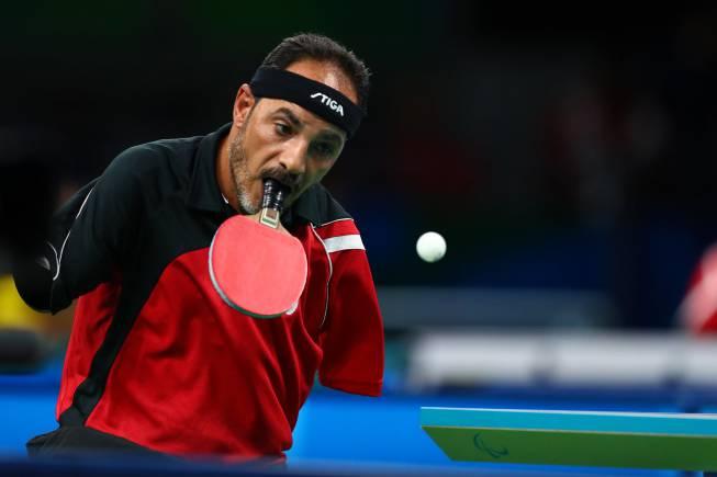 Juegos paral mpicos del egipcio que juega a ping pong con la boca al maradona ciego lo m s - Wake sport tennis de table ...