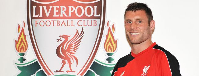 El centrocampista Milner, nuevo jugador del Liverpool