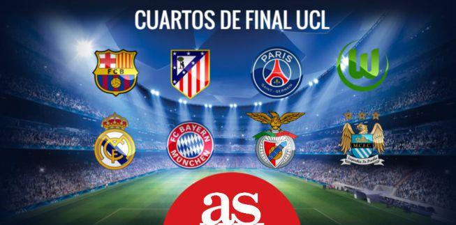 Sorteo champions y europa league cuartos de final 2016 for Champions cuartos de final