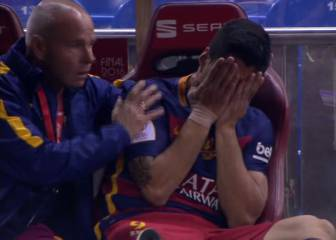 Injured Suárez bursts into tears with Copa América in doubt