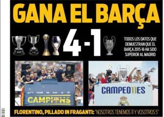 La resaca de la Undécima en Cataluña: 'Barça 4 - Madrid 1'