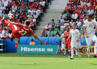 Shaqiri hace el gol de la Eurocopa con una gran chilena