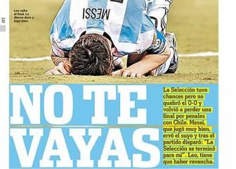 Súplica de Argentina y del mundo: 'Leo, no te vayas'