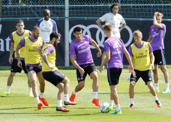 Zidane tries out Benzema and Morata together up front