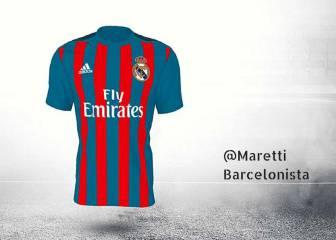 Adidas tolera que una camiseta del Madrid sea blaugrana