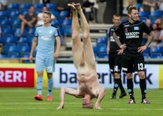 Escándalo en Dinamarca: Lars Elstrup hace el pino desnudo