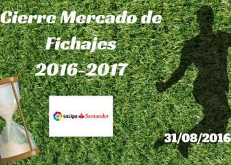 Cierre del Mercado de Fichajes en directo: resumen 31/08/2016