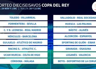 Copa: Cultural-Real Madrid, Hércules-Barça y Guijuelo-Atleti