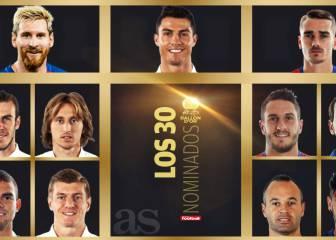 Balón de Oro: Cristiano, Messi, Griezmann, Neymar, Pepe...