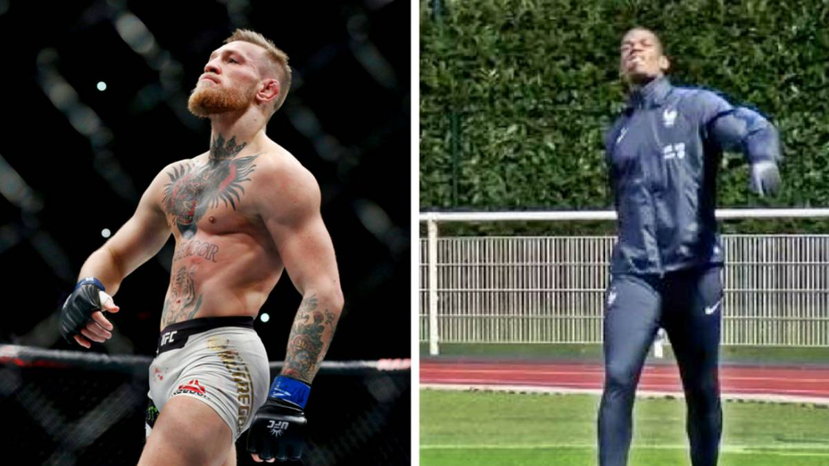 Paul Pogba does the Conor McGregor strut in training - AS.com