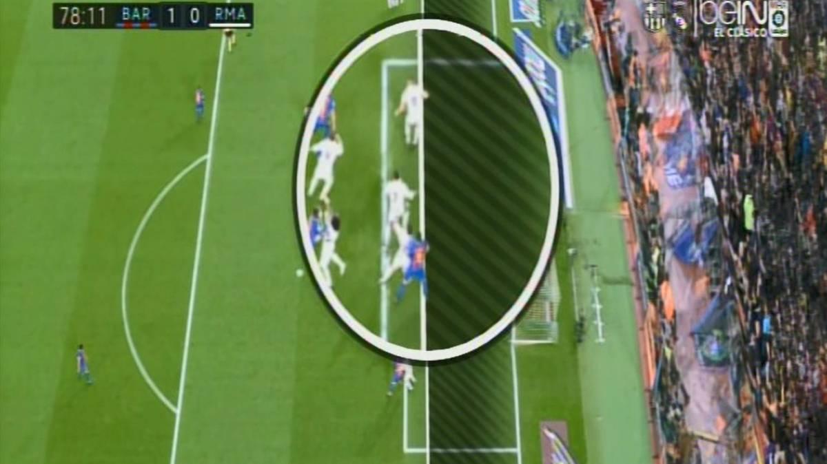 Images of the dubious offside positioning for luis suarez for Offside en el futbol