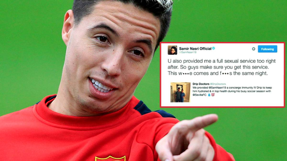 Nasri investigated for doping after Twitter hack - AS.com