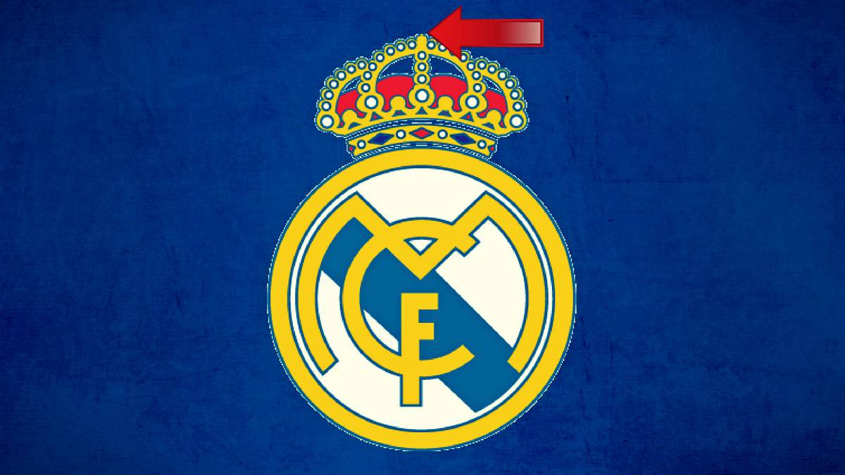 Real Madrid wall sticker logo 2 pieces - Internet-Sportclubs