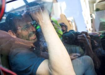 Rosell salió detenido a las 18:05 en un coche de la Guardia Civil