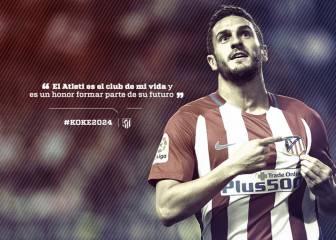Koke amplía su contrato con el Atlético hasta el año 2024