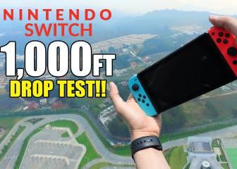 Lanzan una Nintendo Switch a 300 metros de altura y pasa esto