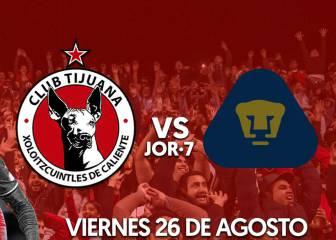 Cómo y dónde ver Xolos de Tijuana vs Pumas: horarios y TV
