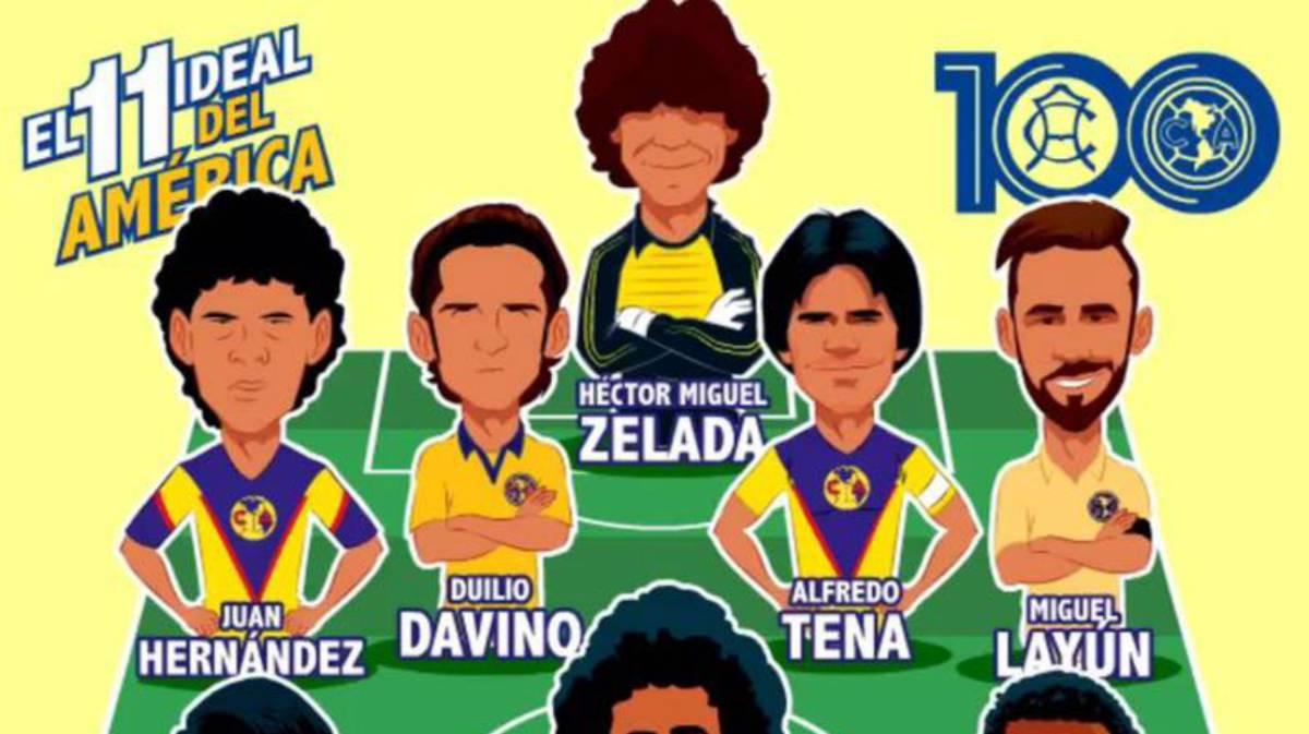 El 11 ideal del Club América en sus 100 años de vida - AS México