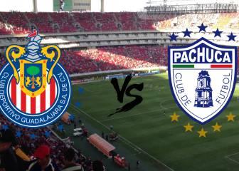 Chivas vs Pachuca (1-2): resumen, resultado y goles