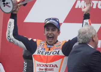 Márquez, 56 puntos más que el año pasado tras ocho carreras