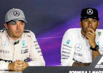 Lewis Hamilton y Nico Rosberg se enfrentaron tras la carrera
