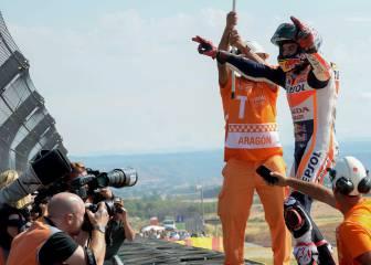 Márquez casi sentencia el Mundial y Lorenzo bate a Rossi