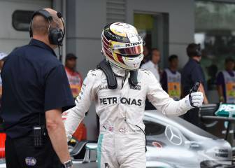Hamilton logra la octava pole; Sainz saldrá 16º, Alonso, último