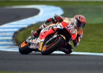 Márquez celebra título con la pole en la debacle de Yamaha