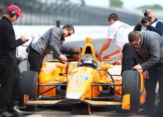 El primer test de Fernando Alonso en la Indy 500