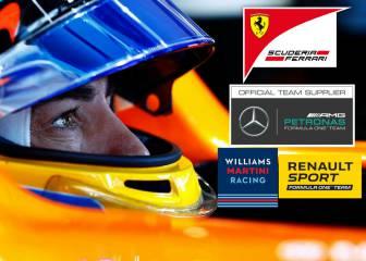 Ferrari y Mercedes, entre las opciones de Alonso para 2018