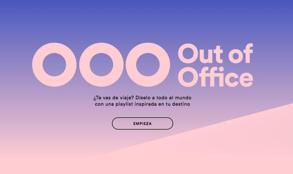 Spotify nos dejar mandar un fuera de la oficina con una for Fuera de oficina en ingles