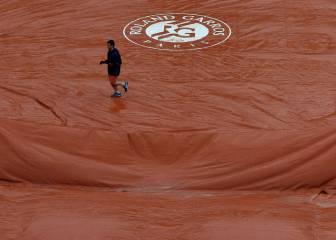 Suspendida la jornada de hoy en Roland Garros por la lluvia