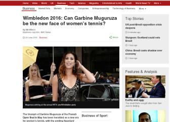 La BBC y Muguruza: '¿Será el nuevo rostro del tenis?'