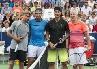 Nadal, McEnroe y Moyá deleitan a los aficionados